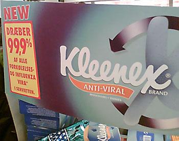 Kleenex reklamestand