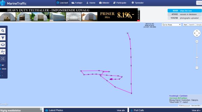 Hvor søger man det forsvundne fly? Følg skibene på nettet