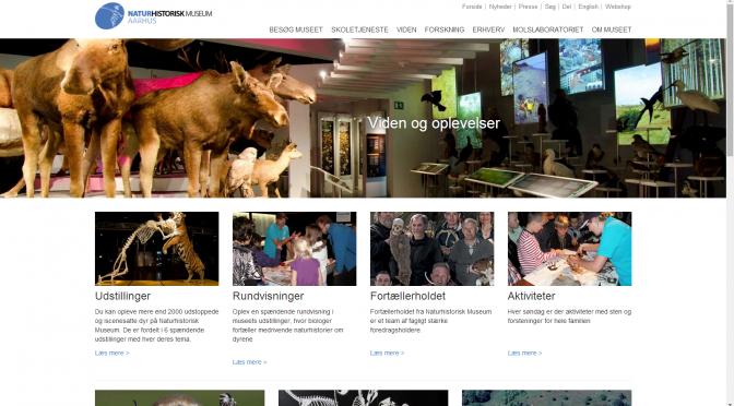 Naturhistorisk Museum: Ny hjemmeside, nyt indhold?