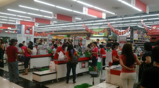 Sådan vælger du kø i supermarkedet